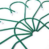 Ограждение декоративное, 62 × 450 см, 5 секций, металл, зелёное, «Павлин-2», фото 3