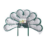 Ограждение декоративное, 62 × 450 см, 5 секций, металл, зелёное, «Павлин-2», фото 4