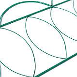 Ограждение декоративное, 60 × 415 см, 5 секций, металл, зелёное, «Классический», фото 3