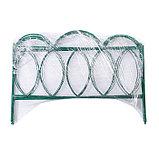 Ограждение декоративное, 60 × 415 см, 5 секций, металл, зелёное, «Классический», фото 4