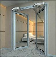 Маятниковые алюминиевые двери, фото 1