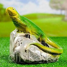 """Садовая фигура """"Ящерица на камне"""", 16х16см, МИКС"""