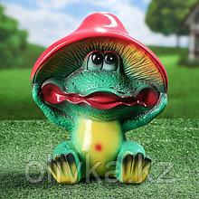 """Садовая фигура """"Лягушка Гриб"""", разноцветный, 29 см"""
