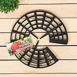 Кустодержатель для клубники, d = 25.5 см, пластик, набор 5 шт., чёрный, фото 2