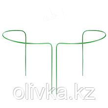 Кустодержатель, d = 30 см, h = 60 см, ножка d = 0,3 см, металл, набор 2 шт., зелёный