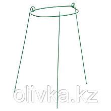 Кустодержатель, d = 33 см, h = 65 см, ножка d = 0.3 см, металл, зелёный, троеножка