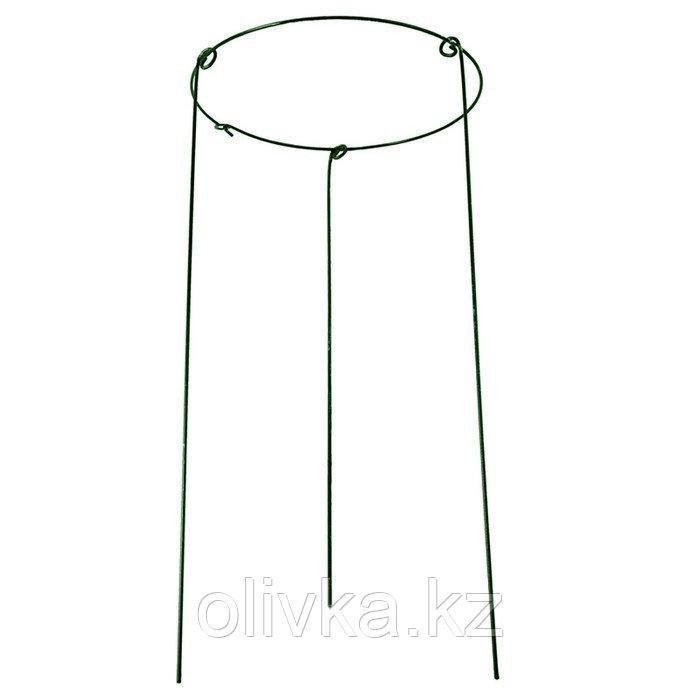 Кустодержатель, d = 40 см, h = 90 см, ножка d = 0.3 см, металл, зелёный, троеножка