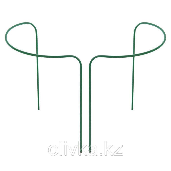 Кустодержатель, d = 40 см, h = 90 см, ножка d = 1 см, металл, набор 2 шт., зелёный