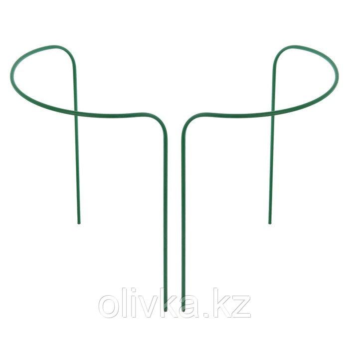 Кустодержатель, d = 80 см, h = 90 см, ножка d = 1 см, металл, набор 2 шт., зелёный