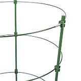 Кустодержатель, d = 28 см, h = 90 см, металл, зелёный, 3 кольца, фото 2