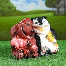 """Садовая фигура """"Кот с собакой"""" 23х20см"""