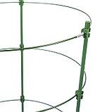 Кустодержатель, d = 28 см, h = 120 см, металл, зелёный, 4 кольца, фото 2