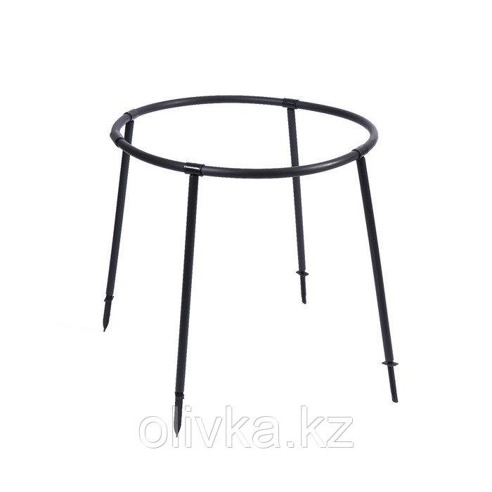 Кустодержатель, d = 64 см, h = 50 см, ножка d = 2 см, пластик, чёрный, «Смородина»