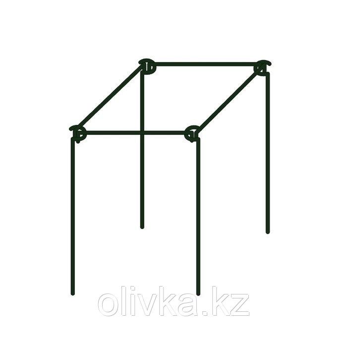 Кустодержатель, d = 50 см, h = 70 см, d = 0,5 см, металл, зелёный