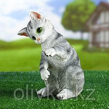 "Садовая фигура ""Котёнок Васька"", серый 16х19х26см"