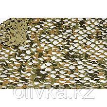 Маскировочная сеть «Пейзаж. Полынь 3D», 2,4 × 6 м, светло-зелёная/серая/светло-серая