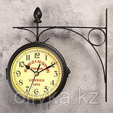 """Часы настенные двойные, серия: Садовые, """"Kinsington station"""", d=12 см"""