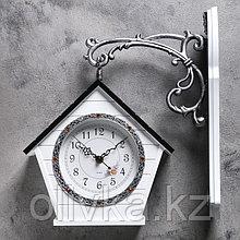 """Часы настенные двойные, серия: Садовые, """"Домик"""", 32х40 см"""