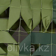 Маскировочная сеть «Стандарт», 3 × 6 м, на сетевой основе, светло-зелёный/тёмно-зелёный