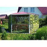 Маскировочная сеть «Пейзаж-профи. Утка 3D», 1,8 × 6 м, на сетевой основе, зелёная/коричневая/жёлтая, фото 3