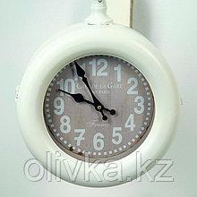 """Часы настенные двойные, серия: Садовые, """"Sweet"""", белые d=21 см, 52х14х48 см"""