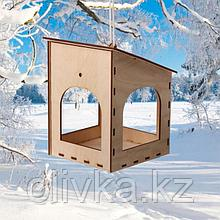 Kopмушка для птиц «Домик малый», 15 × 14 × 17 см