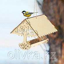 Кормушка для птиц «Узорное дерево», 23 × 21 × 15 см, Greengo
