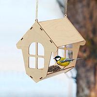 Кормушка для птиц «Избушка», 20 × 18 × 21 см, Greengo