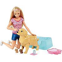 Barbie: Игровой набор «Кукла и собака с новорожденными щенками»