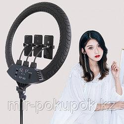 Профессиональная кольцевая лампа с креплением для трёх телефонов + пульт, LC-360, 36 см