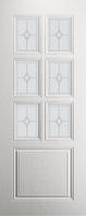 """Дверь Остекленная """"Премьер"""" цвет ясень белый"""