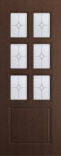 """Дверь межкомнатная остекленная """"Премьер"""" цвет каштан"""