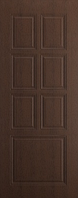 """Дверь межкомнатная """"Премьер"""" глухая цвет каштан"""