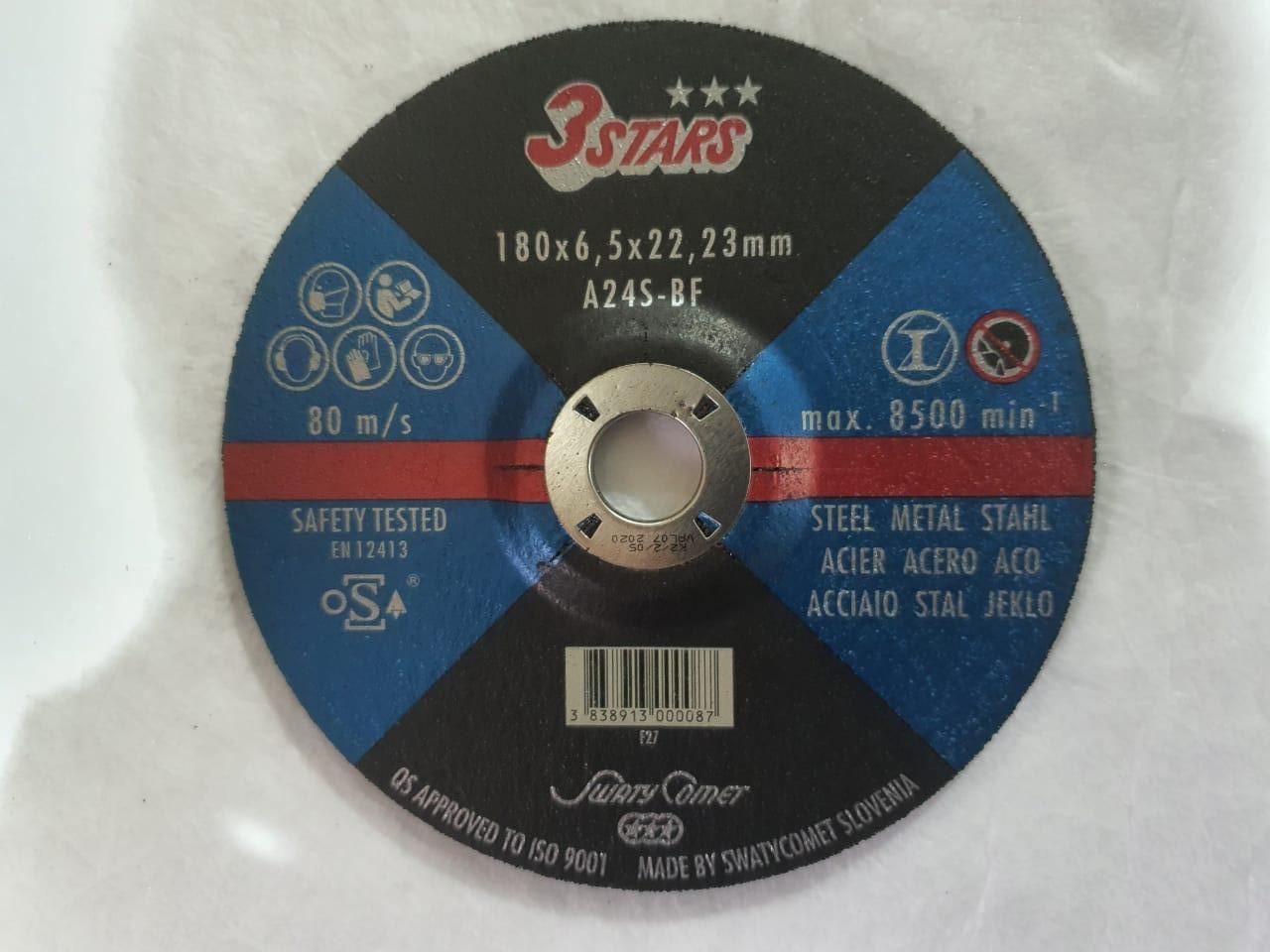 Круг шлифовальный Metal 180 х 6,5 х 22,2 3STARS A24S-BF (Weiler Abrasives, Slovenija)