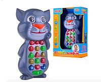 Телефон Play Smart Кот обучающий (3 режима, реагирует от прикосновения), на батарейках