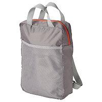 Рюкзак ПИВРИНГ светло-серый 24x8x34 см/9 л IKEA, ИКЕА