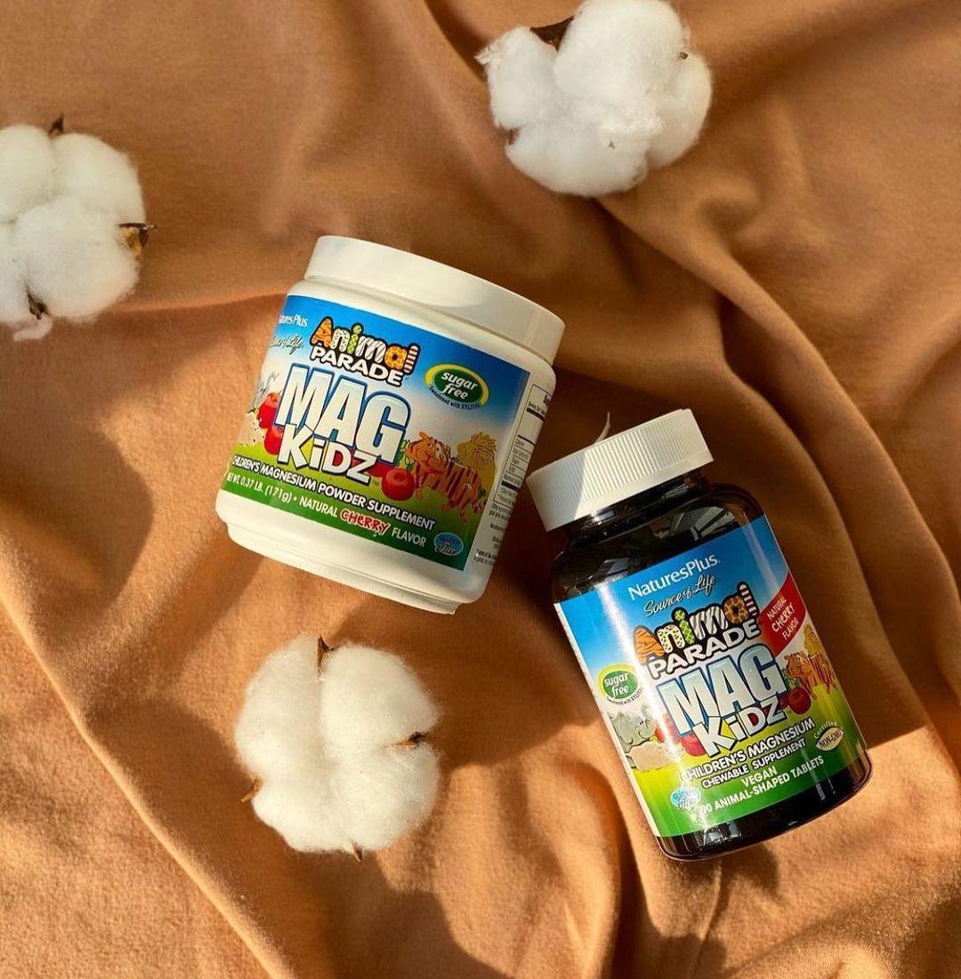 Магний Natures Plus для детей со вкусом вишни 90 таблеток