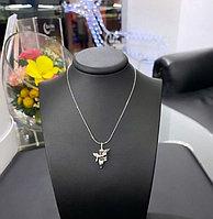 "Подвеска ""Ангел"" из серебра с бриллиантом (без цепи), фото 1"