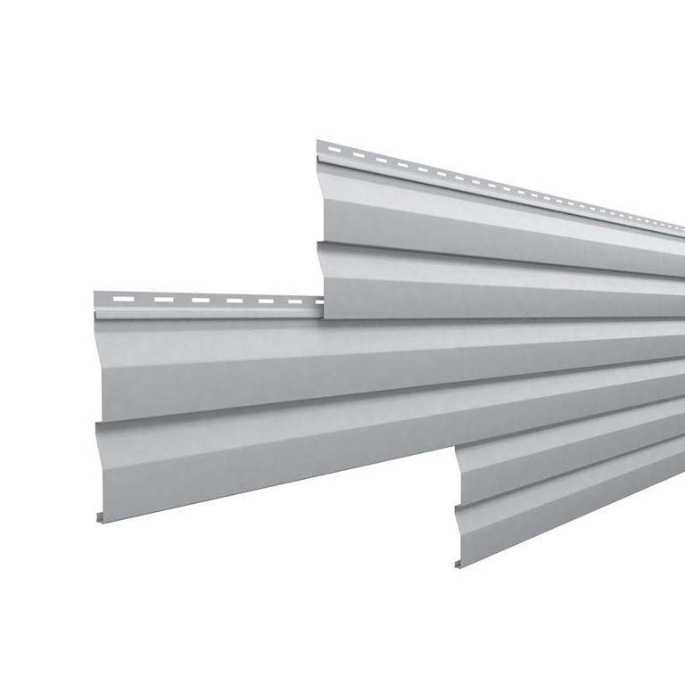 """Металлический сайдинг """"Корабельная доска"""" RAL7004 серый цвет, длина 6000мм"""