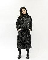 Женская куртка из плащевки (черная, свободный крой), фото 1