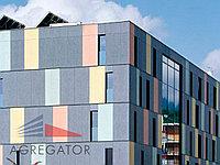 Облицовка фасадов здания плитами Fauscom