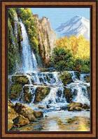 """Набор для вышивания крестом """"Пейзаж с водопадом"""""""