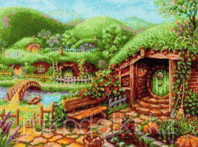 """Набор для вышивания крестом """"Зеленые холмы"""""""