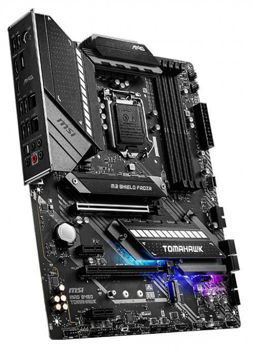 Материнская плата MSI MAG B460 TOMAHAWK LGA1200 iB460 4xDDR4 6xSATA3 RAID 2xM.2 HDMI DP ATX