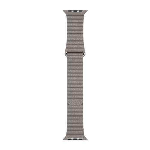 Ремешок Apple Watch 42mm Charcoal Leather Loop, Medium, бежевый