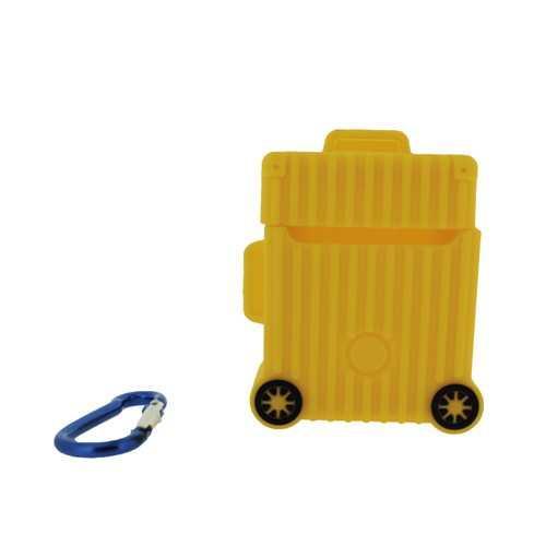 Чехол для Apple AirPods (чемодан), силиконовый, желтый