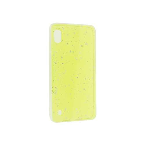 Чехол Samsung Galaxy A10 (2019), гель с блестками, желтый
