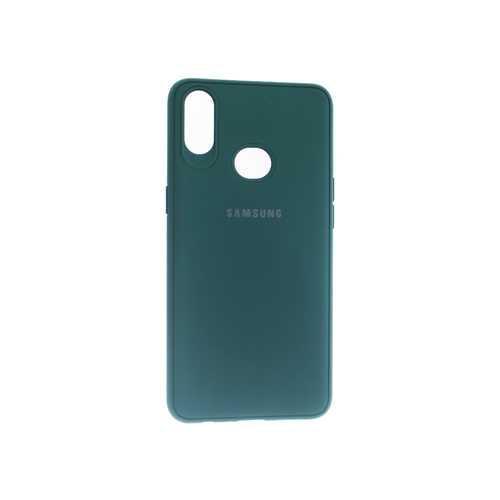 Чехол для Samsung A10s Silicone Case зелёный