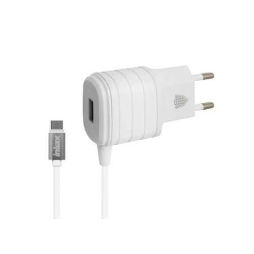 Сетевое зарядное устройство Inkax 2.1 A, с кабелем, Type-C, белый