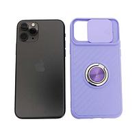 Чехол Apple iPhone 11 Pro силиконовый, сиреневый защита для камеры